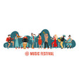 music festival international concert musical vector image vector image