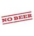 No Beer Watermark Stamp vector image vector image