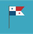 panama flag icon in flat design vector image