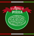 pizza design vector image vector image