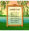 Poster with space for text on the nature vector image vector image
