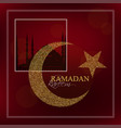 ramadan kareem design background vector image
