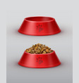 red bowls vector image