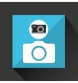 retro camera photographic photo sign vector image vector image