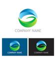 round letter g ecology leaf logo vector image vector image