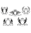 royal coat arms templates vector image