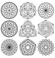 sacred geometry symbols - set 02 vector image vector image