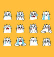 sad cats emoji vector image