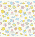 seamless pattern for baby vector image vector image