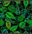 seamless pattern with fresh green leaves vector image vector image