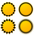 set of 4 different geometric circular elements vector image vector image