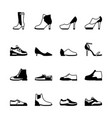 shoes silhouette set vector image vector image