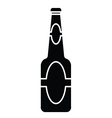 silhouette of beer bottle vector image vector image
