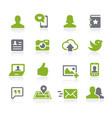social icons natura series vector image vector image