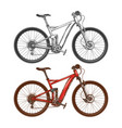 sports high-speed bicycles vector image vector image