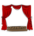 theater drawing on white background vector image