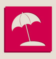 umbrella and sun lounger sign grayscale vector image vector image