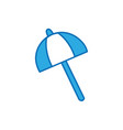 umbrella open style to weather protection vector image vector image