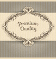 vintage frame and grunge background vector image vector image