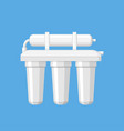 water filter in a flat style vector image