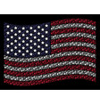 waving united states flag stylization of fired vector image