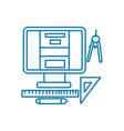 web design linear icon concept web design line vector image vector image