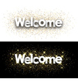 welcome paper banner
