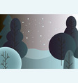 winter trees background vector image