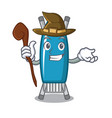 witch iron board mascot cartoon vector image