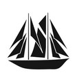 yacht and sail symbol vector image
