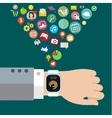 Digital smart watch vector image