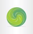 green eco spring design element vector image