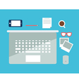 office flat notebook vector image