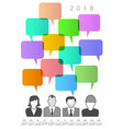 2018 creative people and speech bubble calendar vector image vector image