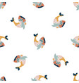 abstract seamless pattern with colorful whales vector image vector image