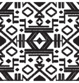 abstract tribal black and white seamless vector image vector image