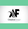 af a f creative brush black letters design
