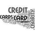 affinity credit cards text word cloud concept vector image vector image