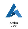ardor cryptocurrency symbol vector image vector image