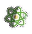 Atom science molecule vector image