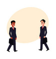 black african and caucasian businessmen in vector image vector image