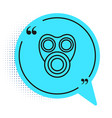 black line gas mask icon isolated on white vector image vector image