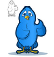 blue bird mascot vector image