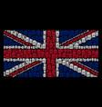 british flag mosaic of trash bin items vector image vector image