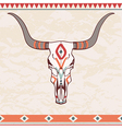 bull skull with ethnic ornament vector image
