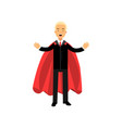 business man standing with arms wide open male vector image vector image