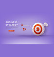 business strategy landing page template vector image