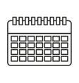 calendar reminder isolated icon vector image
