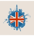 Cargo port relative silhouettes Britain flag vector image vector image