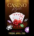 casino poker background poster vector image